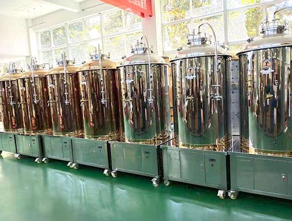 啤酒酿造设备-500L玫瑰金发酵罐
